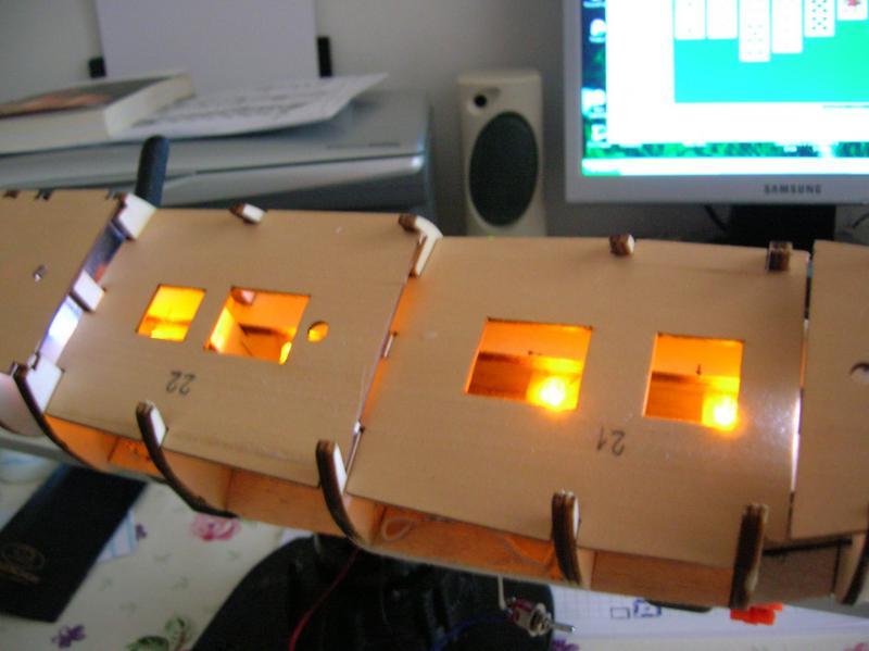 Illuminazione per modellismo statico illuminare l interno di un