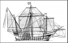 la caravella Santa Maria - disegni di Adametz-santa-maia.png