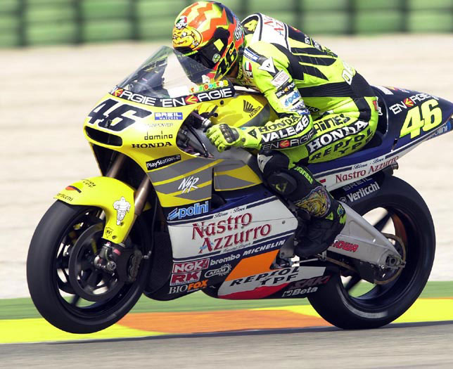 Bike Picture Of The Day Rossi Back In 2001 On The 2 Stroke Honda