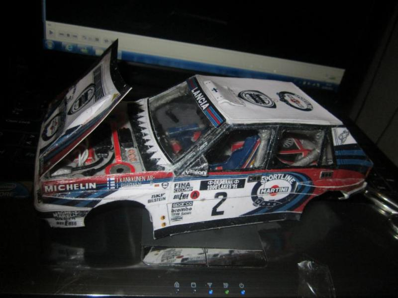Wip lancia delta16v 1000laghi scala 1 18 in papercraft for Papercraft lancia