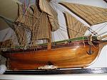 """SAM 1732 - nave """"DOLPHYN"""" (1750) 1:50 Ketch Olandese.    Eccola, poverina un po' impoverata, ma provvederemo alla sua manutenzione."""