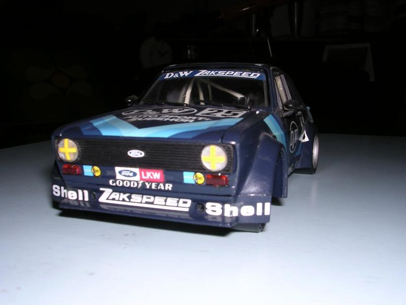 Ford Escort Zakspeed 1979 realizzata da me nel 1994 su base del kit 1:24 ESCI-ERTL del 1990.