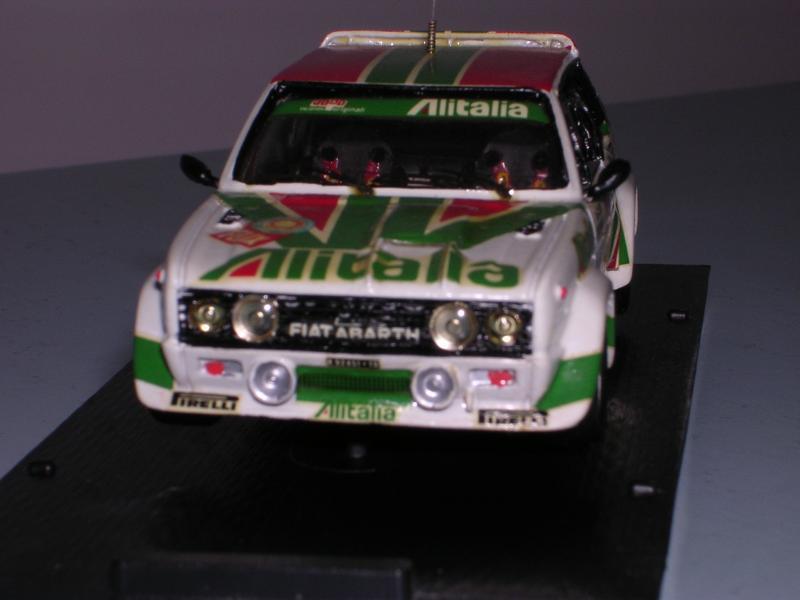 Fiat 131 Abarth del Portogallo 1978 realizzato da me nel 1994 su base del kit Meri-kits in scala 1:43 resina-metallo bianco.